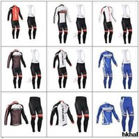 uv t-shirt - 2015 castelli men cycling Jersey sets in winter autumn fall with long t sleeve bike shirt bib pants in cycling clothing bicycle wear