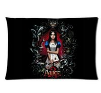 Wholesale new high quality European x30 inch Pillowcase Alice Madness Returns Comfortable Pillow Cover