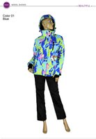 Wholesale Women winter waterproof outdoor suit jacket women snowboard jacket ski suit women snow jackets pants pc Suit
