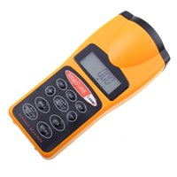 Wholesale New Handheld Laser Distance Meter with Bubble Level Rangefinder Range Finder Tape measure to100m Large LCD with Backlight