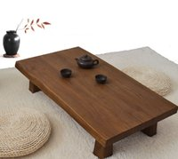 antique finishing coffee table - Solid Elm Wood Low Table Antique Finish Rectangular cm Living Room Furniture Asian Sofa Table Modern Rustic Wood Coffee Table