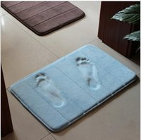 Wholesale 2014 High Quality Slow rebound memory foam mats waste absorbing slip resistant bath mat coral fleece mat doormat carpet ej871204