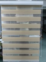 Wholesale 2015 New Custom Made Translucent Roller Zebra Blinds in Khaki Curtains for Living Room Colors Are Available