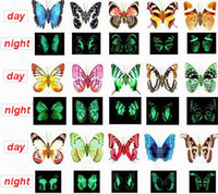 Wholesale Light In Dark Luminous cm Vivid D Printing Butterfly Fridge Refrigerator Magnet Stickers Home Decor Wedding Party Gift Toy