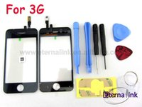 3G adhesive kits - For iPhone G touch screen digitizer with toolset tools kit glass panel screwdriver prying tools picks sticker adhesive suction