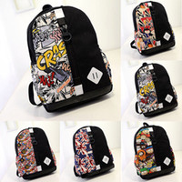 Wholesale Fashion Cartoon Printing Canvas Schoolbag Satchel Laptop Bag Ladies Travel Bags