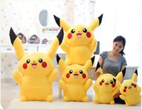 Wholesale Pikachu plush dolls stuffed animals a hasbro action figure soft cartoon toys to children s gift is cheap