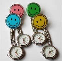Wholesale Popular Nurses Doctor Fob Watch Brooches Alloy Smile Face Medical Watches With Clip Pocket Watch