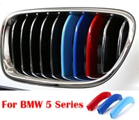 abs motorsport - 3 Colors ABS D Molding M Styling Front Grille Trim Strips Cover Motorsport Power Performance Stickers For BMW Series