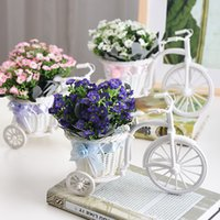 Wholesale Rural Desktop Decoration Bicycle with Flowers Woven Articles