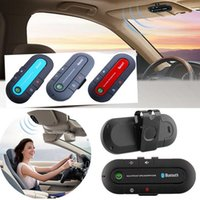Wholesale 2015 Vehicle Wireless Multipoint Bluetooth Handsfree Speakerphone Cell Phone Bluetooth Hands Free v3 EDR Car Kit Sun Visor