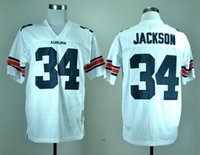 auburn logo - 2015 New Top Quality College Football Jerseys Auburn Tigers Bo Jackson Blue White Stitched Logos