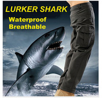 tactical pants - TAD Shark Skin soft shell Waterproof Outdoor camping Hiking CS Camouflage Hunting tactical Pants Men Fleece Trousers Military Army Pant