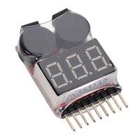 Wholesale Best Promotion Li ion Li Fe LiPo Battery akku Tester Low Voltage Buzzer Alarm Indicator Checker RC S S