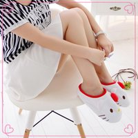 cheap slippers - 2015 Hello Kitty Slippers House Chinese Slippers Kawaii Cheap Melody Women Bedroom Shoes Kids Shoes for Girl New Year Toys and Decoration