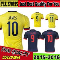 colombia - DHL freeshipping Best Thai Colombia soccer jersey home away Colombia jersey JAMES RODRIGUEZ Colombia football soccer shirt