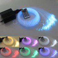Wholesale colorful W RGBW LED plastic Fiber Optic Star Ceiling Kit Lights mm M optical fiber lighting key RF Remote
