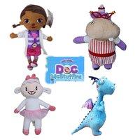 achat en gros de jouets de dragon pour les filles-4 modèle 28-34cm Doc McStuffins Lambie Dragon Hallie bouché Plush Toy Doc McStuffins Plush Doll filles peluche farcies poupées jouets C001