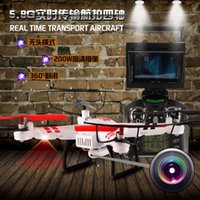 Wholesale WL WLtoys V686G FPV Helicopter G Headless Mode CH Axis Drone RC Quadcopter with Camera LCD Monitor One key return Toys New