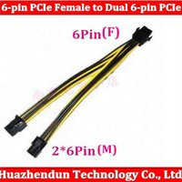 Wholesale pin pin PCIe Female to Dual pin PCIe Male PCIe Power Splitter Adapter Connector