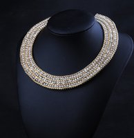 Wholesale Hot Fashion necklaces pendants fashion Europe party rhinestones choker chunky Necklace statement jewelry women