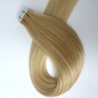 Wholesale Top quality g Glue Skin Weft Tape in Hair Extensions inch Platinum Blonde Brazilian Indian human hair