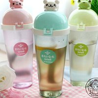 animal children water bottle - Creative Plastic Water Bottle Space Cup BPA Free For Children Kids Drink Bottle Cup Cute Animal Convenient Cup Drinkware