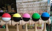 Wholesale 200piece cm Rubber paint Game ball skills with a sword ball sword flexible paint kendama ball toy