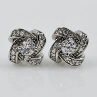 abstract ring diamond - Fourth Ring Abstract Spiral Diamond Flower Earrings Three dimensional Shape of The Nail Japanese And Korean Fashion Jewelry Zircon Unique