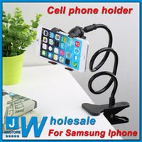 Cheap Wholesale 360 Rotating Flexible Long Arm cell phone holder stand lazy bed desktop tablet car selfie mount bracket iphone6 iphone5 Sumsang