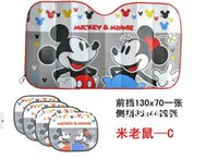auto interior insulation - Brand New Couples Mikey Mouse Cartoon Car Window Sunshade Thicken Heat Insulation Auto Cover set Interior Accessory