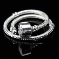 Wholesale 10PC ONLY Silver MM Snake Chain Fits European DIY Pulseira Fits Charms Jewelry CM CM For Choice