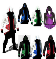 Wholesale Hot Sale Assassins Creed III Conner Kenway Hoodie Coat Jacket Cosplay Costume