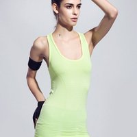 Wholesale Leisure sports vest round collar Sleeveless tight render unlined upper garment sweater Quick drying vest yoga
