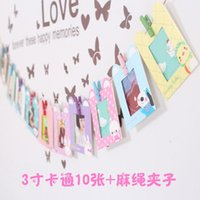 Wholesale C05 creative hanging inches cute cartoon frames photo wall photo frame combination