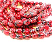 Wholesale Red Ladybug Lampwork Glass Bead Fashion Beads for Bracelet x8mm