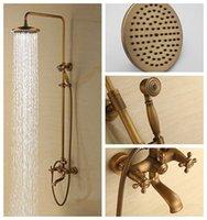 Wholesale Rain Shower Faucets Antique Brass Tub Shower Faucet with inch Shower Head Hand Shower