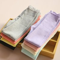Cheap 2015 Spring Girls Lace Leggings Babies Candy Color Ruffle cotton Tights Pants Children's Clothes