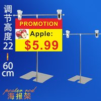 Wholesale Table Type Poster Display Racks Advertising Poster Rod Supermarket POP Clip AD Price TAG Display Stainless Steel Sales Promotion Rack