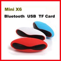 Wholesale Mini X6U X6 Rugby Football Stereo Speaker Subwoofers Mini Portable Soccer Wireless Bluetooth V3 Speakers With U Disk TF Card