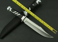 Wholesale New WOOD Handle Sharp Survival Bowie Hunting Fixed Blade Knife k302A