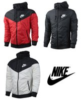 brand clothes cheap - 2015 Nike Mens Windrunner Hooded Outdoor Jacket Cheap Mens Brand Nike Wind Runner Hooded Fleece Jackets Clothing