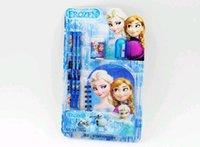 Wholesale 5 New Arrival Frozen Elsa Anna Stationery Pencil Eraser Notebook Sharpener IN DH04