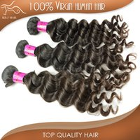 russian hair - Free loose curly virgin hair or brazilian russian indian malaysian peruvian human hair extension A more loose wave hair weave