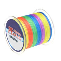 Wholesale 300M LB Colorful Strands PE Fishing Line Multifilament Braided Fishing Line Fishing Tackle Tool Y0770