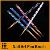 Wholesale 2015 Hot sale Way Acrylic Nail Art Pen Brush Cuticle Tips Set H4565