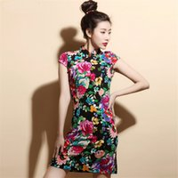 Wholesale Chinese Tradition Ladies Cheongsam Qipao Dress Hot Sale Cheongsam Evening Gown By Hands Made Lace Cheongsam Wedding Dress
