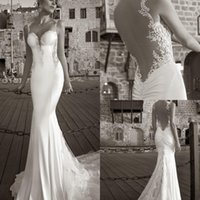 Cheap Trumpet/Mermaid Mermaid Wedding Dresses Best Reference Images Spaghetti Prom Party Dresses