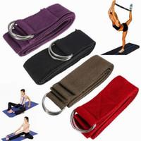Wholesale Random Color cm quot Long Type Yoga Stretch Strap Training Belt Waist Leg Fitness Gym Resistance Bands