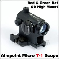 aimpoint - Rifle Scopes Aimpoint Aimpoint Micro T1 Quick Mount Red Green Dot Scope Riflescope for Military Scopes for Training and Simulation